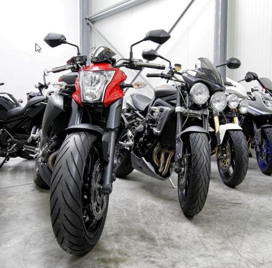 Wir haben immer viele Motorräder zur Ansicht